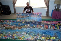 FIRST IN USA TO MIX ALL 24,000 PUZZLE PIECES